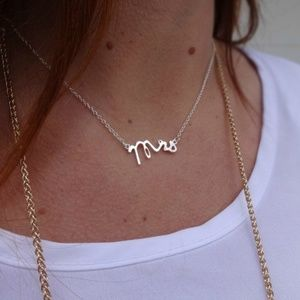 Gold Mrs Necklace • Great Gift for Brides